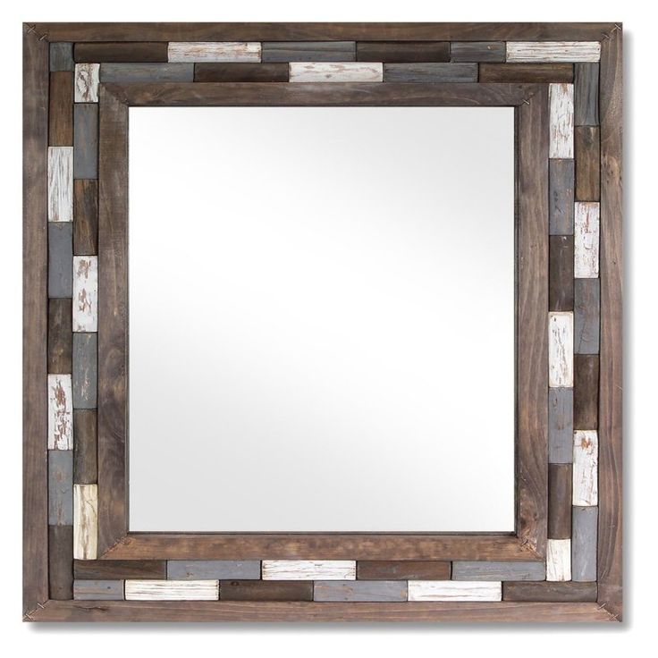 Melrose International Natural Wall Mirror - 26W x 1D x 32H in. - 58339