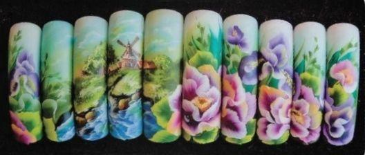 Роспись ногтей в китайском стиле