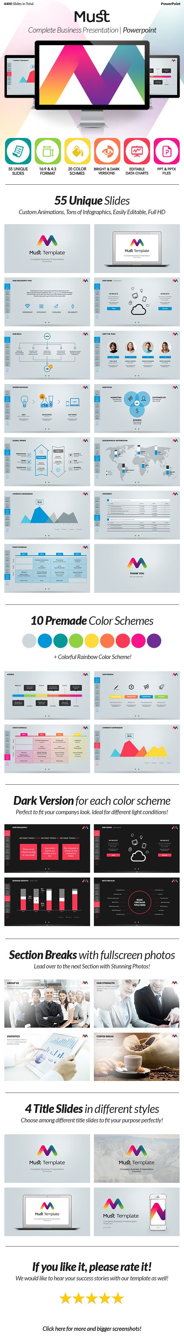Must PowerPoint - Complete Business Presentation  #template #point #portfolio • Click here to download ! http://graphicriver.net/item/must-powerpoint-complete-business-presentation/5736943?s_rank=1404&ref=pxcr