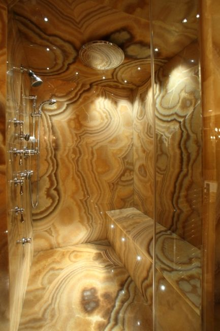Onyx Bathroom Shower #amazing!