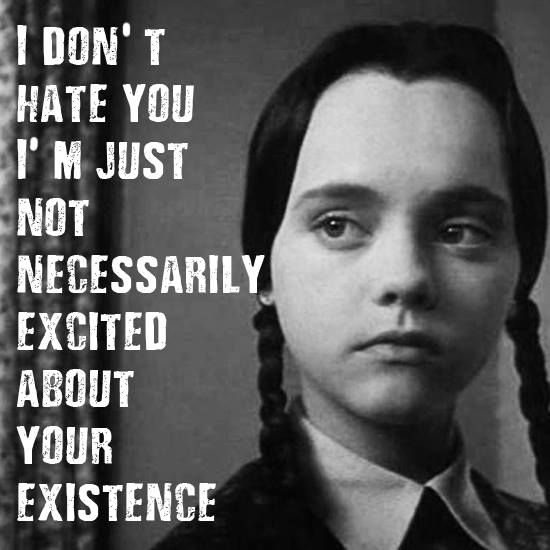 Wednesday Adams, like a female version of Calvin. Also origionally a cartoon comic strip character, created before Calvin and Hobbes.