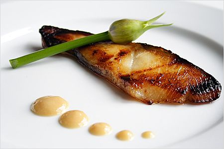 Nobu Black Cod with Miso Recipe - Made famous by Nobu Matsuhisa and one of Robert De Niro's favorites.  #cod #Japanese #seafood
