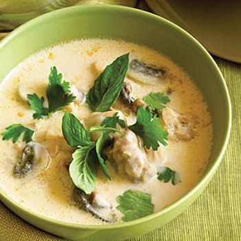 Thai Chicken Coconut Soup Tom Kha Gai