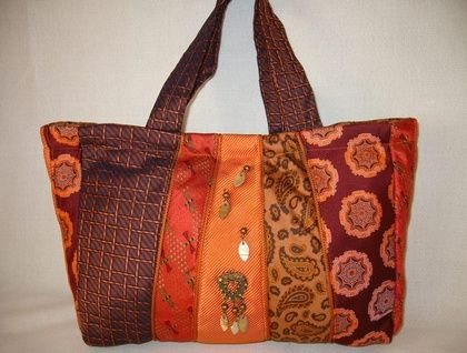 Handbag Made From Recycled Men's Ties