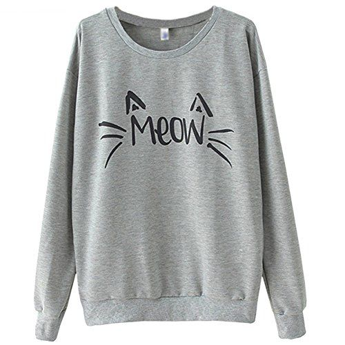 MapleClan Women's Cat Face and Letter Print Loose Fleece/Sweatshirt/T-shirt Gray MapleClan http://www.amazon.com/dp/B00SGLFHOO/ref=cm_sw_r_pi_dp_bL1.vb1WXB8XX