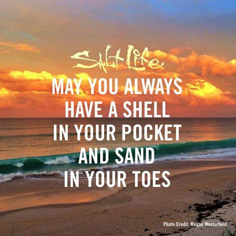 May you always have a shell in your pocket and sand in your toes