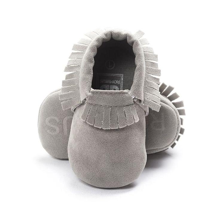 Newborn Toddler Baby Boy Girl Tassel Soft Soled Non-slip Crib Shoes Infant Coral Velvet Moccasins