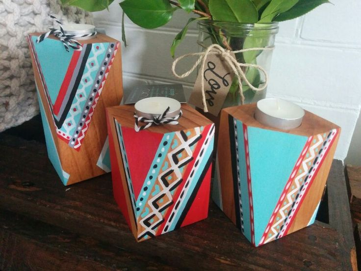 #candles#wooden#aztec