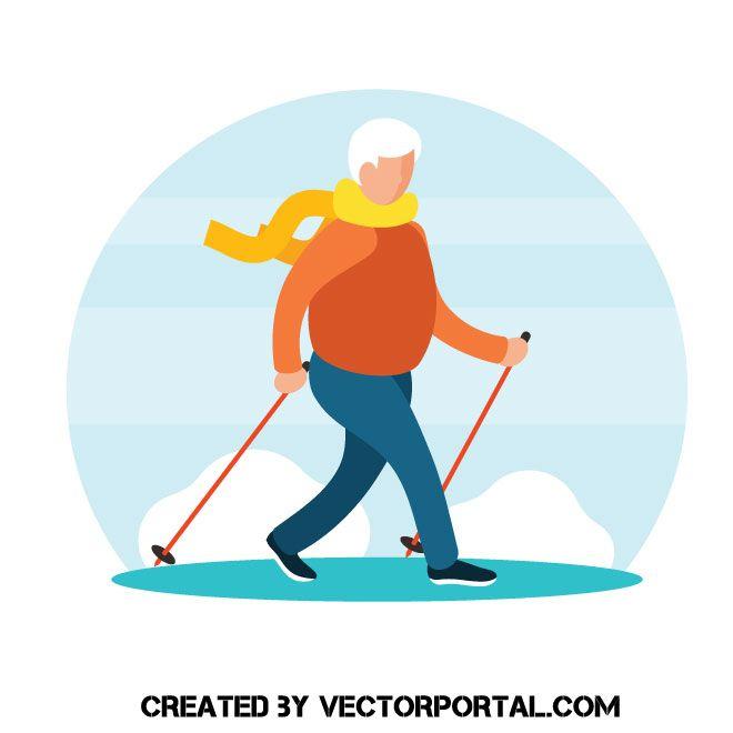 Nordic Walking Vector Free Nordic Vector Images