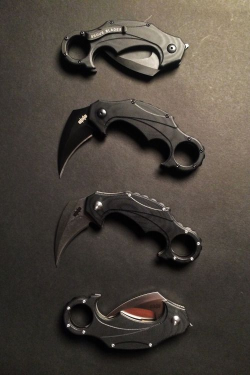 The Brous Blades Enforcer Karambit's D2 steel blade and G10 handles make it tougher than Gotham's favorite masked vigilante. Made in the USA. Check it out at kcoti.com/1INpzct