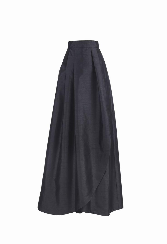 Falda larga Victoria negra Miticca by Isabella Gobarodi