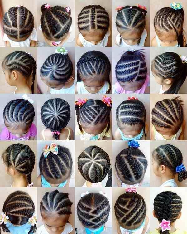 Various Cornrow styles for little girls.