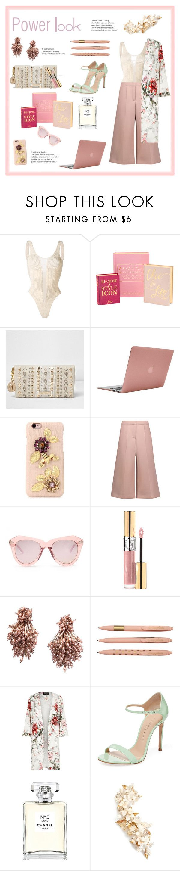 """""""Anything you can do, I can do better."""" by rachel-marie-maximo-mapson ❤ liked on Polyvore featuring Yeezy by Kanye West, River Island, Incase, Dolce&Gabbana, Simone Rocha, Karen Walker, Yves Saint Laurent, Mignonne Gavigan, Casadei and Chanel"""