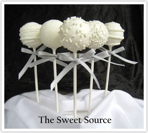 white cake pop / we could add a little navy detail or silver, even black. / wedding dessert / favour