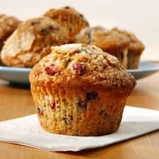 #Muffins à l'avoine et aux #canneberges #avoine