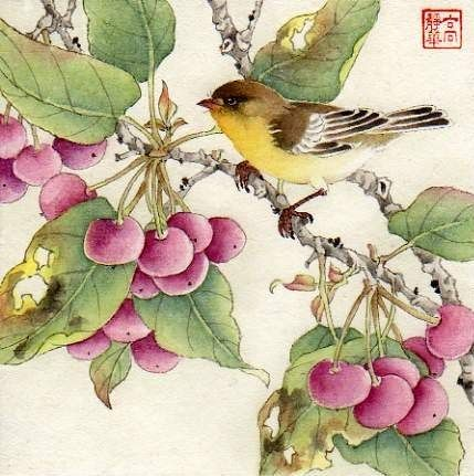 """In the Chilly Air"" - Original Fine Art for Sale - © Jinghua Gao Dalia"