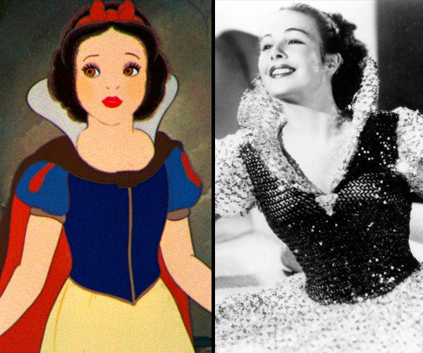 Snow White/Marge Champion  In addition to modeling the lead in Snow White and the Seven Dwarfs, Champion also worked on Pinocchio (1940) and Fantasia (1940).