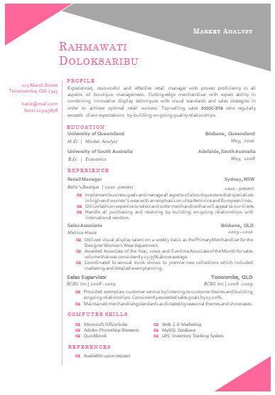 modern microsoft word resume template rahmawat by inkpower