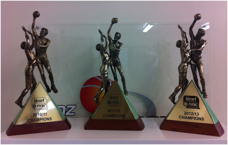 2010/11, 2011/12 and 2012/13 NBL Championship trophies won by our NZ Breakers awesome.