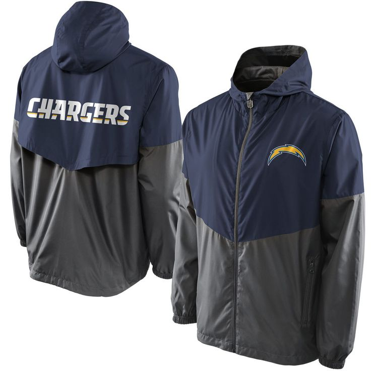 San Diego Chargers Pro Line Color Block Vent Shell Big & Tall Jacket - Navy