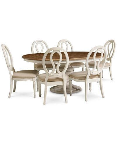 Sag Harbor Round Dining Furniture, 7-Pc. Set (Table & 6 Side Chairs)