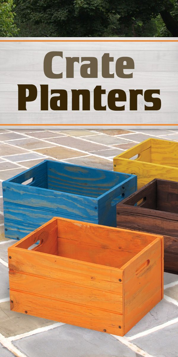 Crates are in-style and are a great alternative to plant your favorite plants in