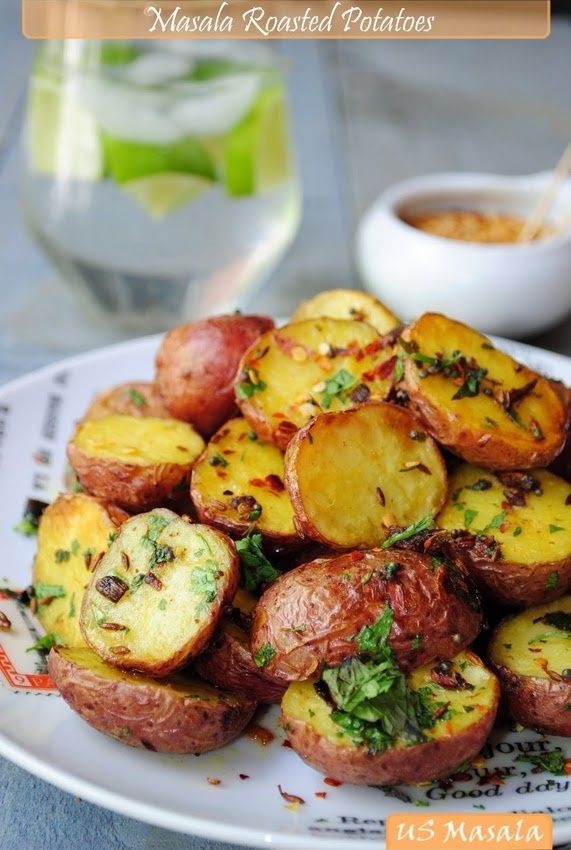 Roasted baby potatoes Indian stylr