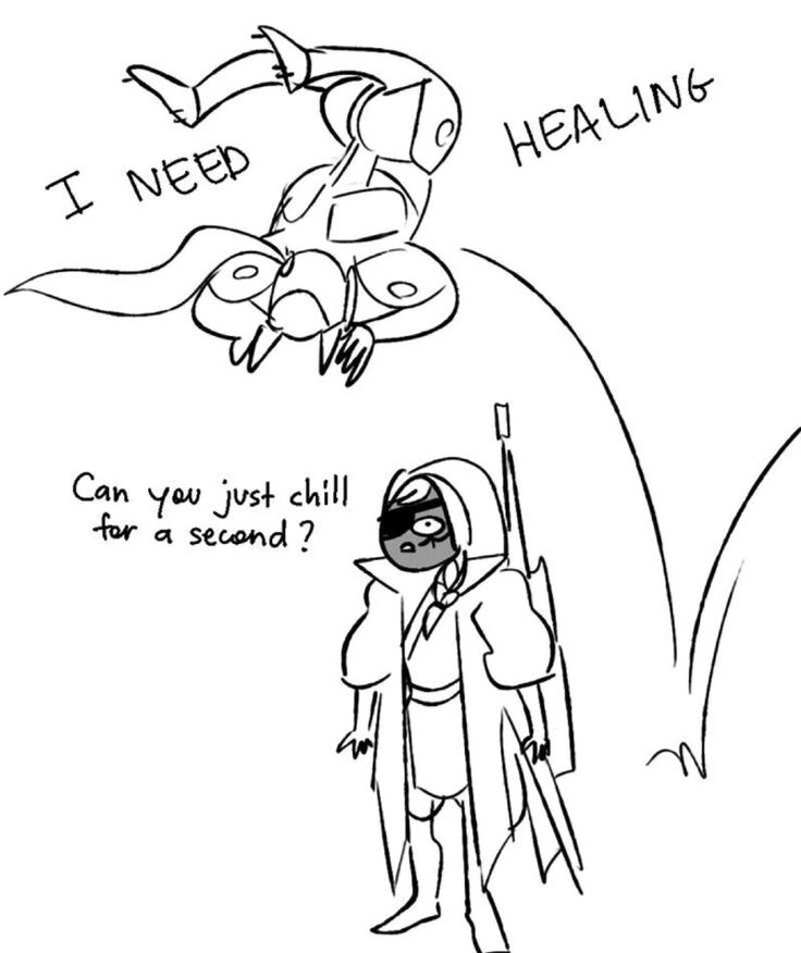 Dank Memes of Overwatch ---- When Genji asks an Ana for healing, Also STAND STILL MOTHERFUCKER SO I CAN HEAL YOU