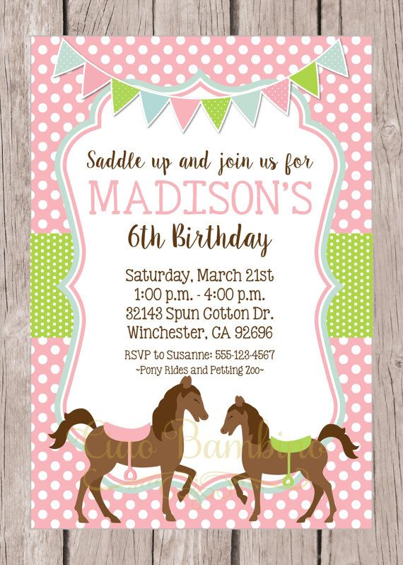 Hey, I found this really awesome Etsy listing at https://www.etsy.com/listing/201058388/printable-horse-birthday-party
