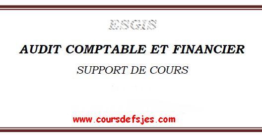 Audit comptable et financier Cours
