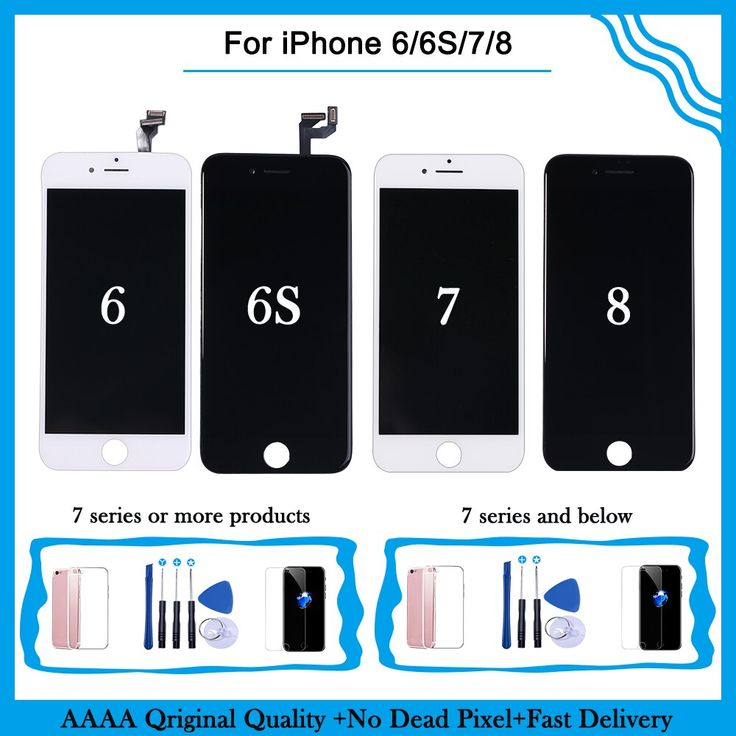 Aaa display for iphone 6s 7 8 lcd touch screen