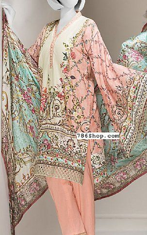 c5b6a640d4 Peach Lawn Suit | Buy Junaid Jamshed Pakistani Dresses and Clothing online  in USA, UK