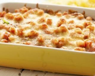 Gratin de riz de konjac au jambon et béchamel légère : http://www.fourchette-et-bikini.fr/recettes/recettes-minceur/gratin-de-riz-de-konjac-au-jambon-et-bechamel-legere.html