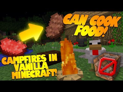 """Minecraft Redstone """"CAMPFIRE IN MINECRAFT"""" No Command Blocks Needed! (Minecraft Redstone) - YouTube"""