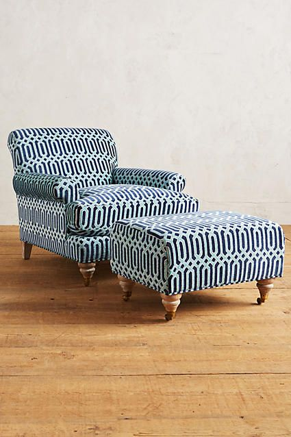 Trellis-Woven Willoughby Chair - anthropologie.com For the library.