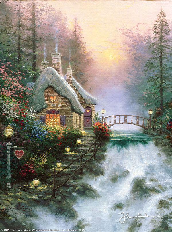 Sweetheart Cottage II by Thomas Kinkade