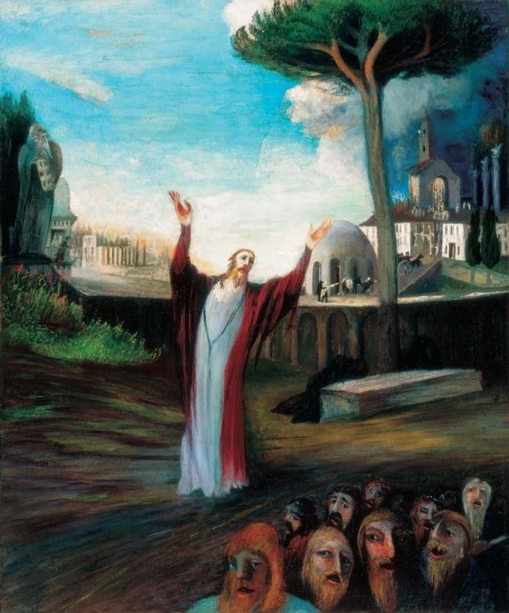 Csontváry Kosztka Tivadar (1853-1919) - A fohászkodó Üdvözítő (797×960)