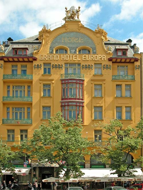 Hotel Evropa, 1906, wencelasplein 25