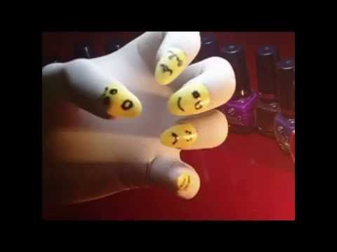 Nail Art Designs - Use Different Type Of Face Cartoon