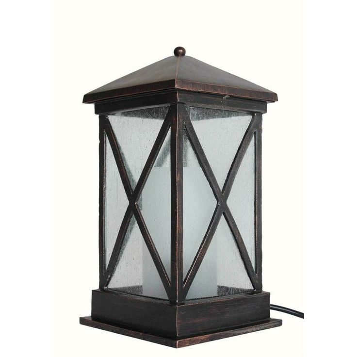 Allen + Roth Oil Rubbed Bronze Outdoor Table Lamp With Shade Shade
