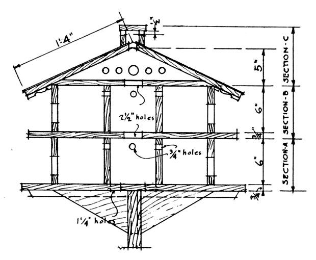 superb martin house plans #2: Build your own Purple Martin House