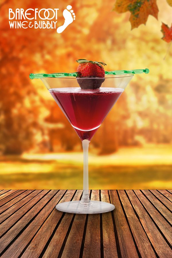 It's dessert in a glass! Drink recipe featuring Barefoot Bubbly Berry Fusion.