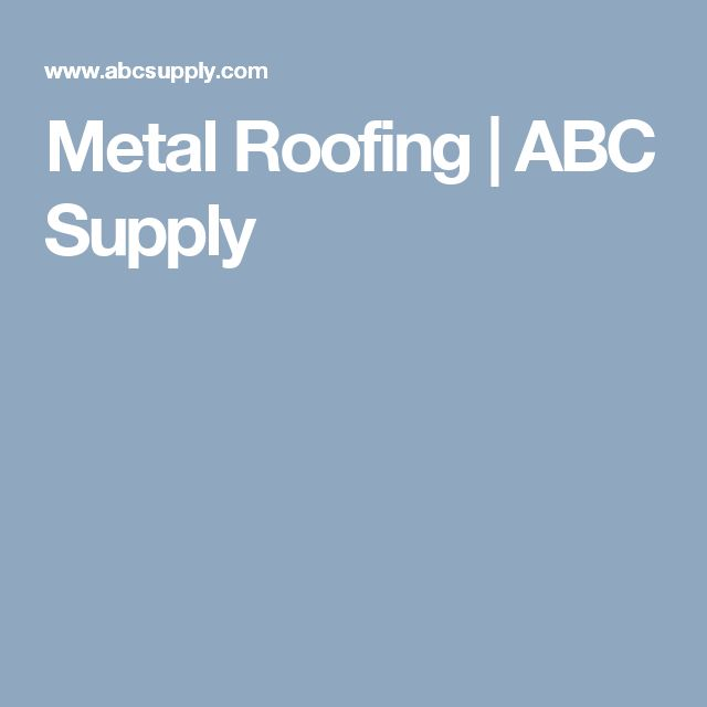 Metal Roofing   ABC Supply