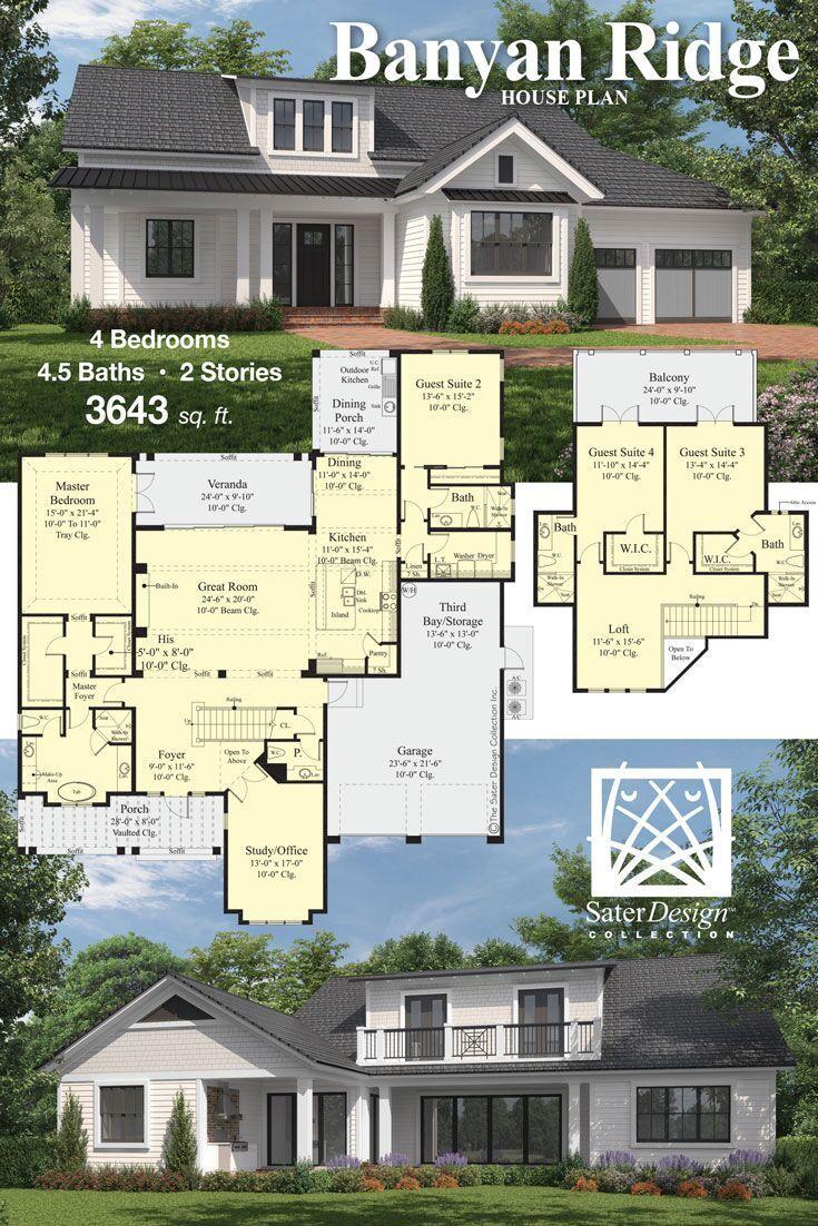 House Plans Home Plans Floor Plans Sater Design Collection House Plans House Plans Farmhouse New House Plans