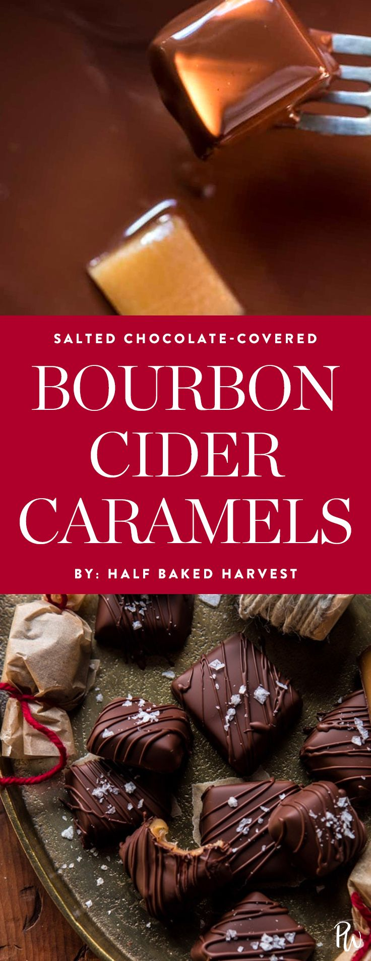 Get the recipe for these mouth-watering chocolate bourban cider caramels and more of the best Christmas candy recipes.