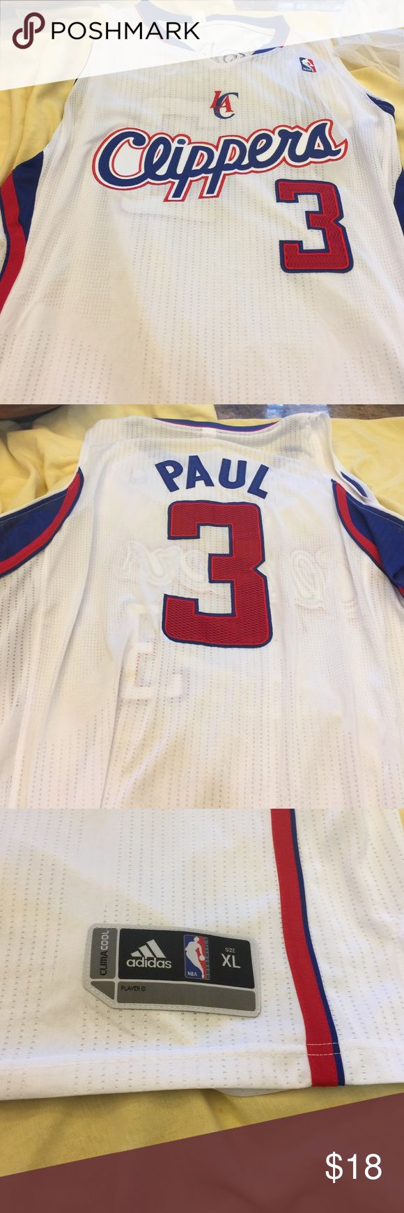 Official NBA Jersey LA Clippers # 3. Size X Large Adidas NBA LA Clippers # 3 Paul  Men's X Large.  Claims Cool. EUC . Non smoking home. Adidas Shirts