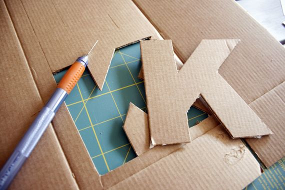 Pin by renteria on diy pinterest for Cheap 3d cardboard letters