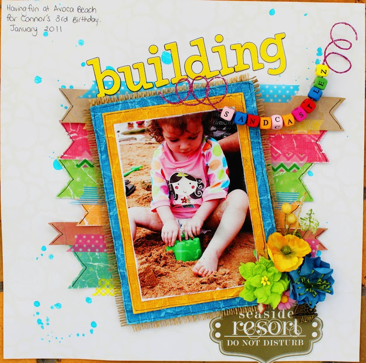 Building Sandcastlez by Amy Prior using Core'dinations Cardstock & Websters Pages About a Girl Collection available from www.passion4paper.com.au