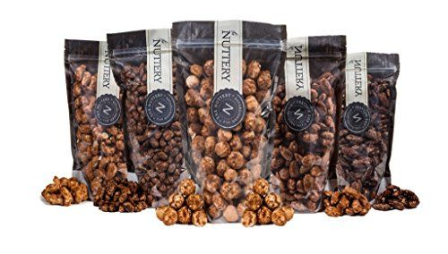 The Nuttery Freshly Roasted and Glazed Macadamia Nuts - One (1) Lb Bag of Kosher Sweet Macadamia Nuts