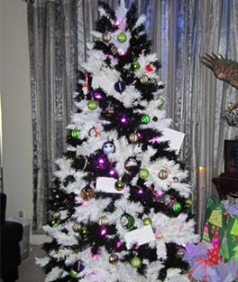 zebra striped christmas tree christmas trees onlineartificial - Cheap Christmas Trees Online